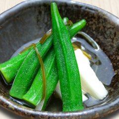 オクラと長芋の浅漬け 320円